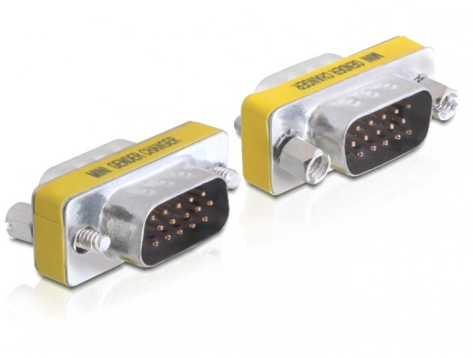 Imagine Adaptor VGA 15 pini T-T, Delock 65010