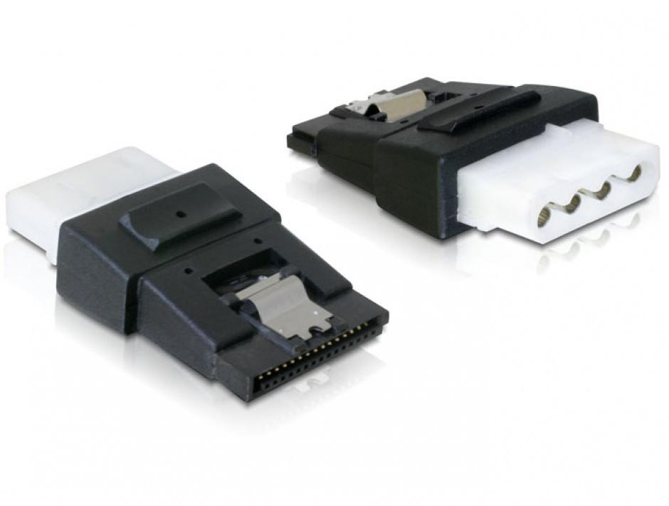Imagine Adaptor alimentare Molex la SATA cu fixare M-M, Delock 65046