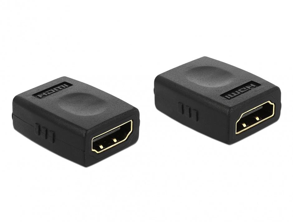 Imagine Adaptor HDMI la HDMI M-M, Delock 65049