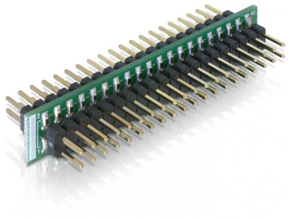 Imagine Adaptor 40 pini IDE la 40 pini IDE T-T, Delock 65089