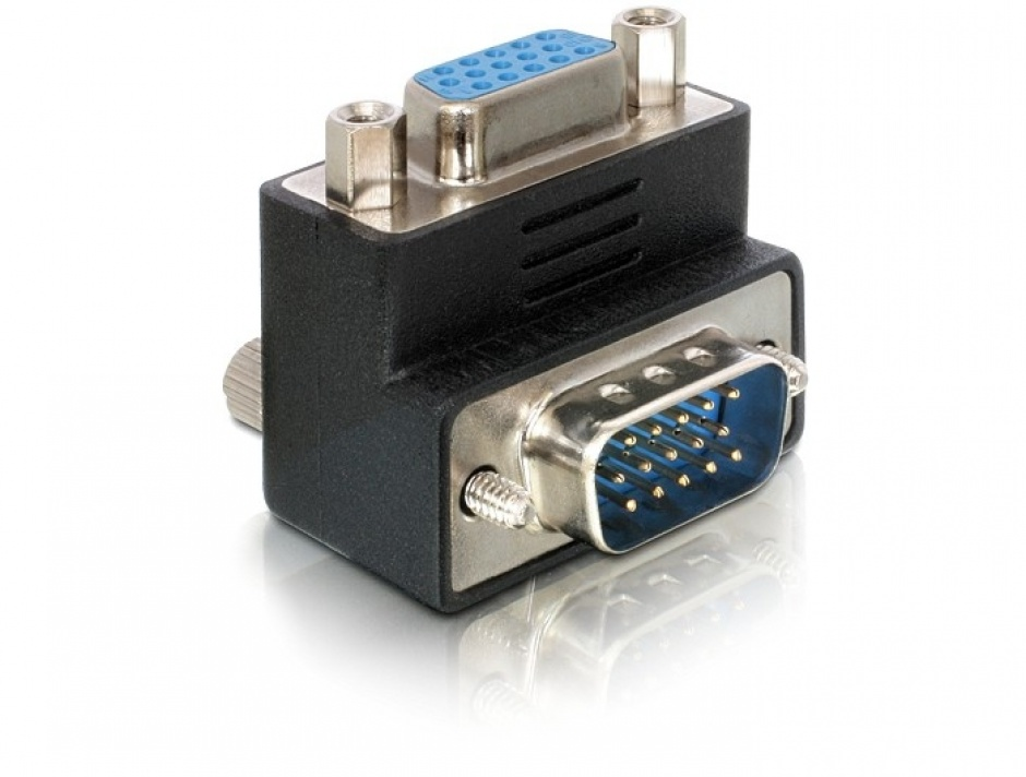 Imagine Adaptor VGA M-T unghi 90 grade, Delock 65171