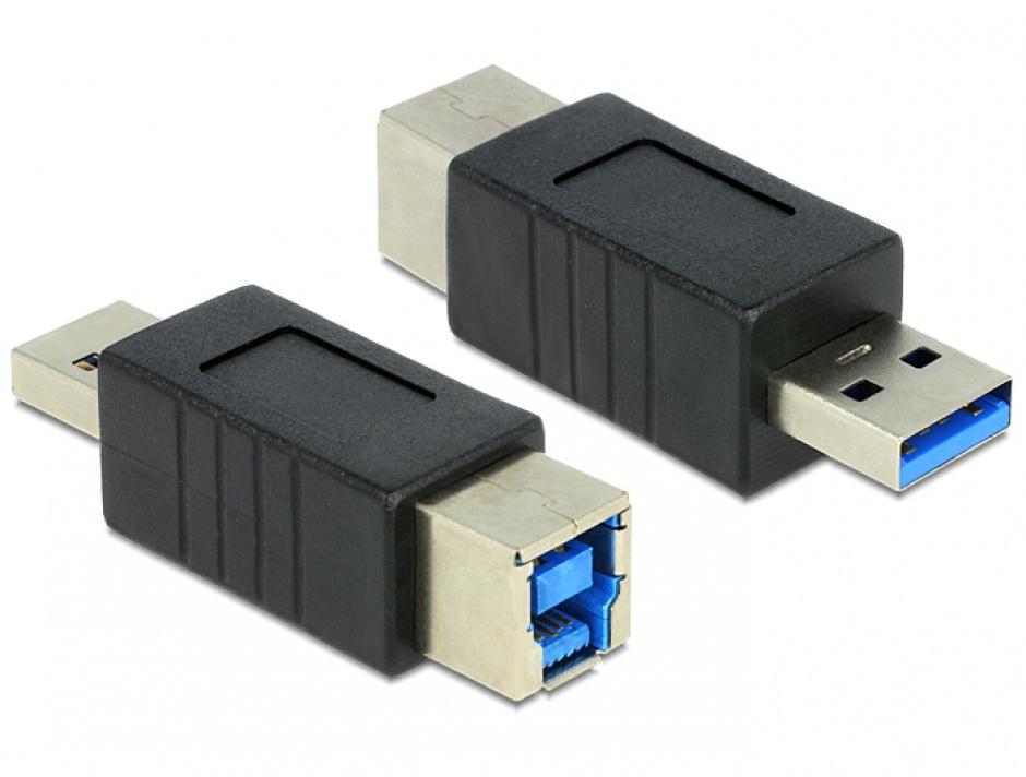 Imagine Adaptor USB 3.0 tip B la tip A M-T, Delock 65218