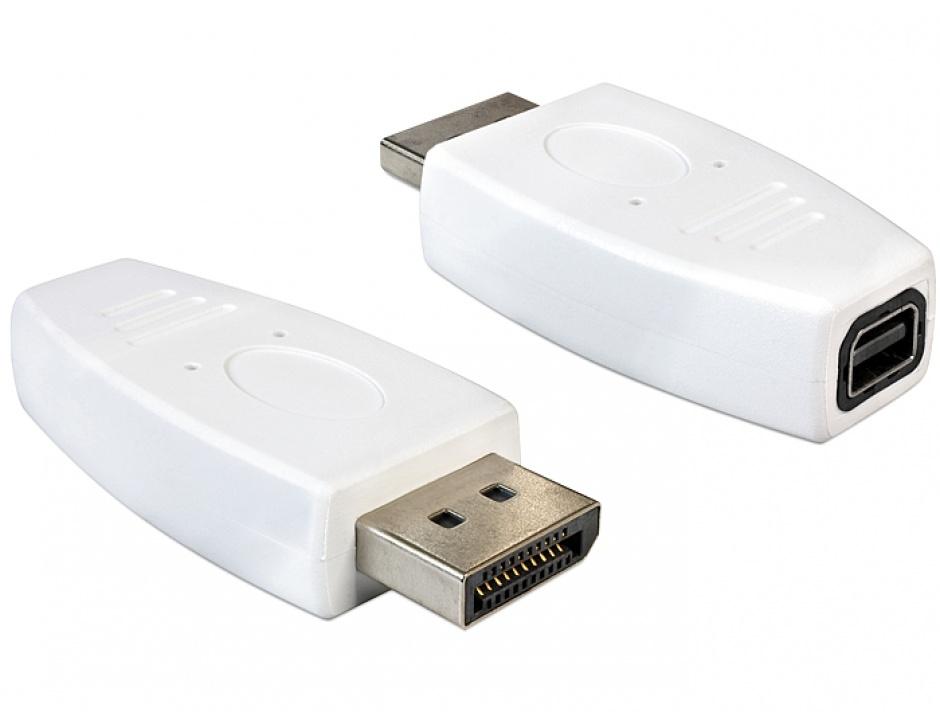 Imagine Adaptor DisplayPort la mini DisplayPort T-M alb, Delock 65240