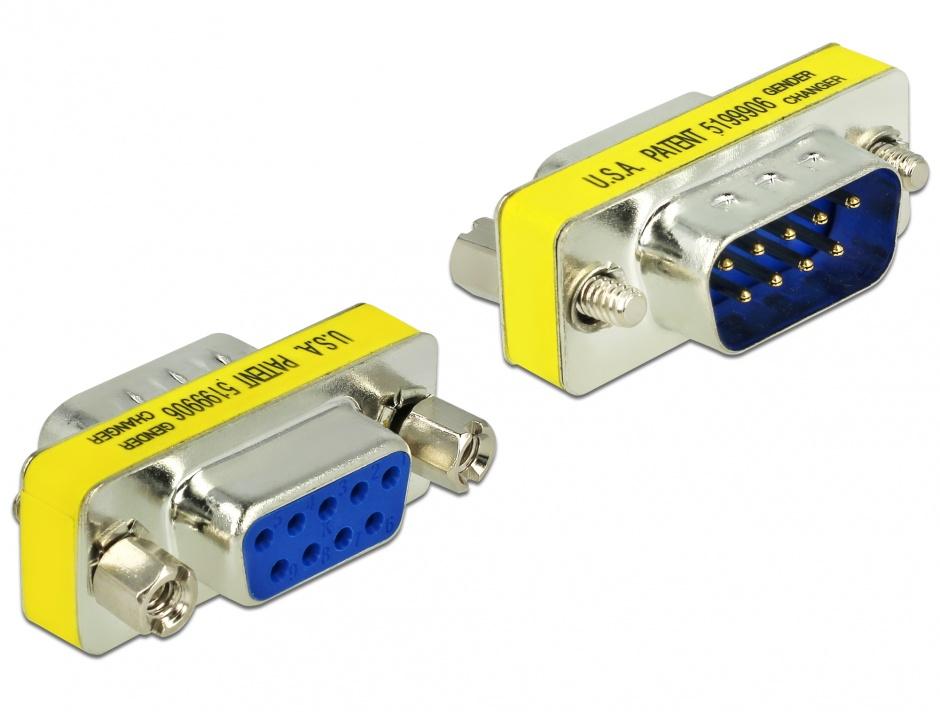 Imagine Adaptor serial DB9 T-M, Delock 65249