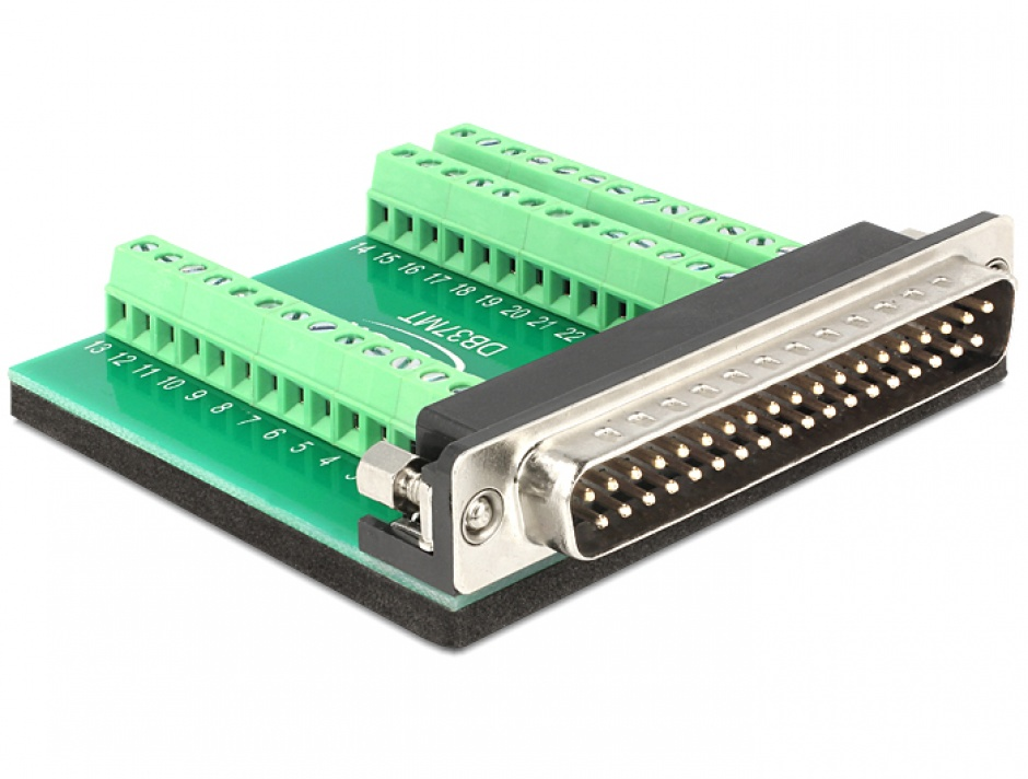 Imagine Adaptor D-Sub 37 pini T la bloc terminal 39 pini, Delock 65320