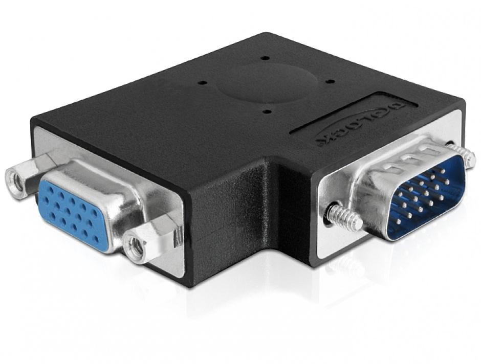 Imagine Adaptor VGA T-M unghi 90 grade, Delock 65345