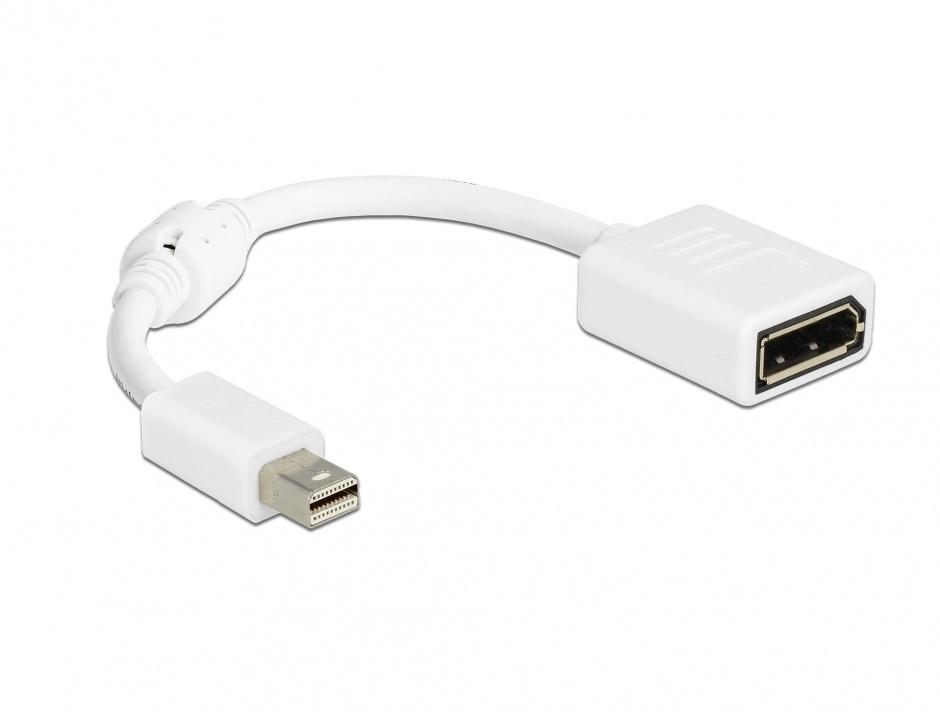 Imagine Adaptor mini Displayport 1.2 la Displayport 4K T-M alb, Delock 65427