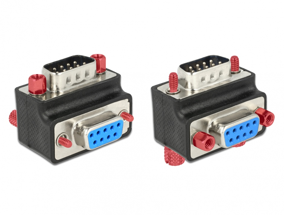 Imagine Adaptor serial D-SUB 9 pini unghi schimbabil T-M, Delock 65593