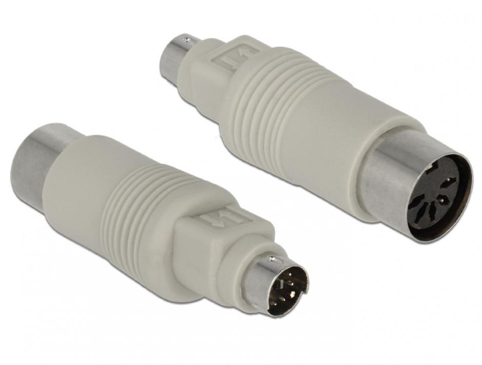 Imagine Adaptor DIN 5 pini la PS/2 T-M, Delock 65630