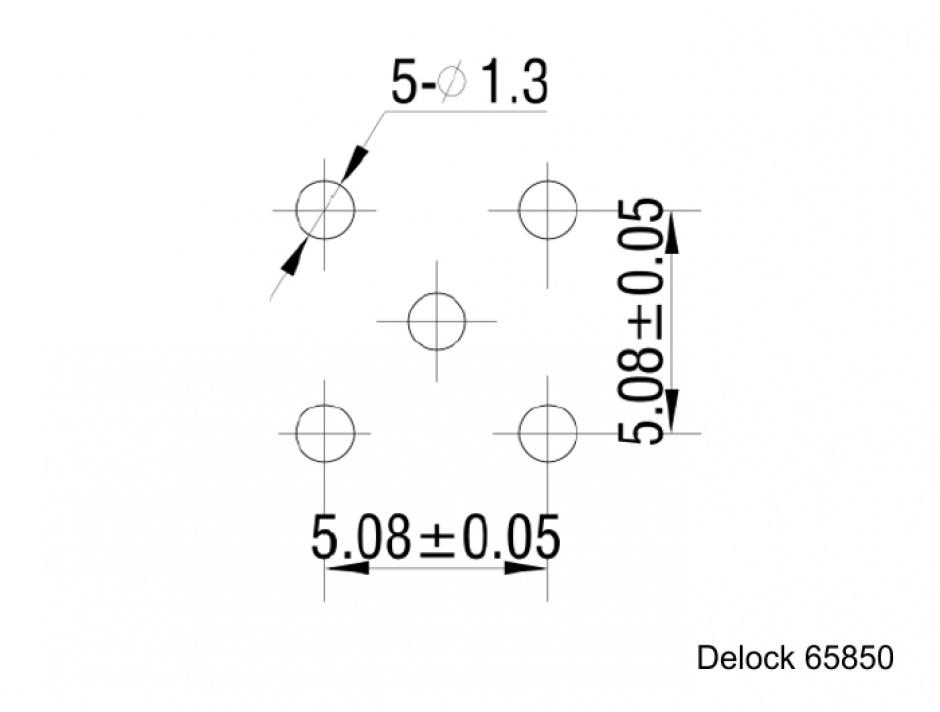 Imagine Adaptor SMC jack PCB, Delock 65850
