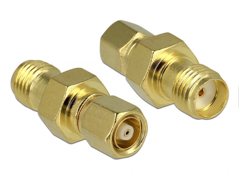 Imagine Adaptor SMC plug la SMA jack, Delock 65869
