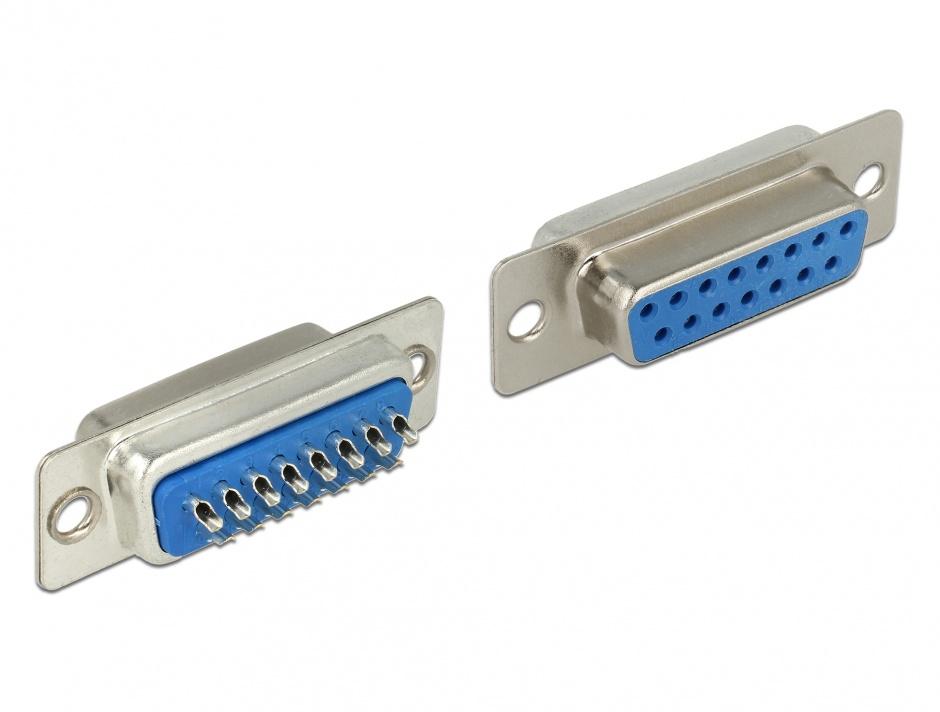 Imagine Conector D-SUB 15 pini mama, Delock 65880