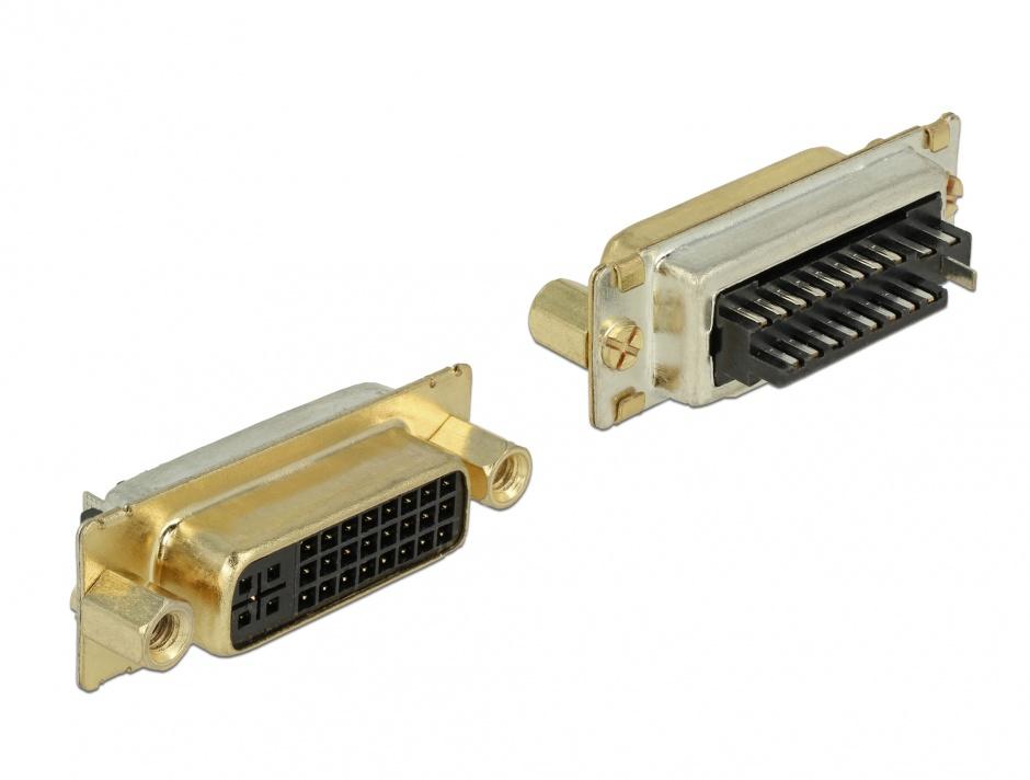 Imagine Conector de lipit DVI 24+5 pini mama, Delock 65884