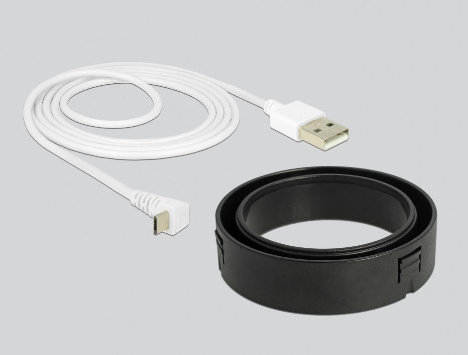 Imagine Incarcator Wireless Qi Fast Charger 7.5 W + 10 W montare masa Alb, Delock 65918