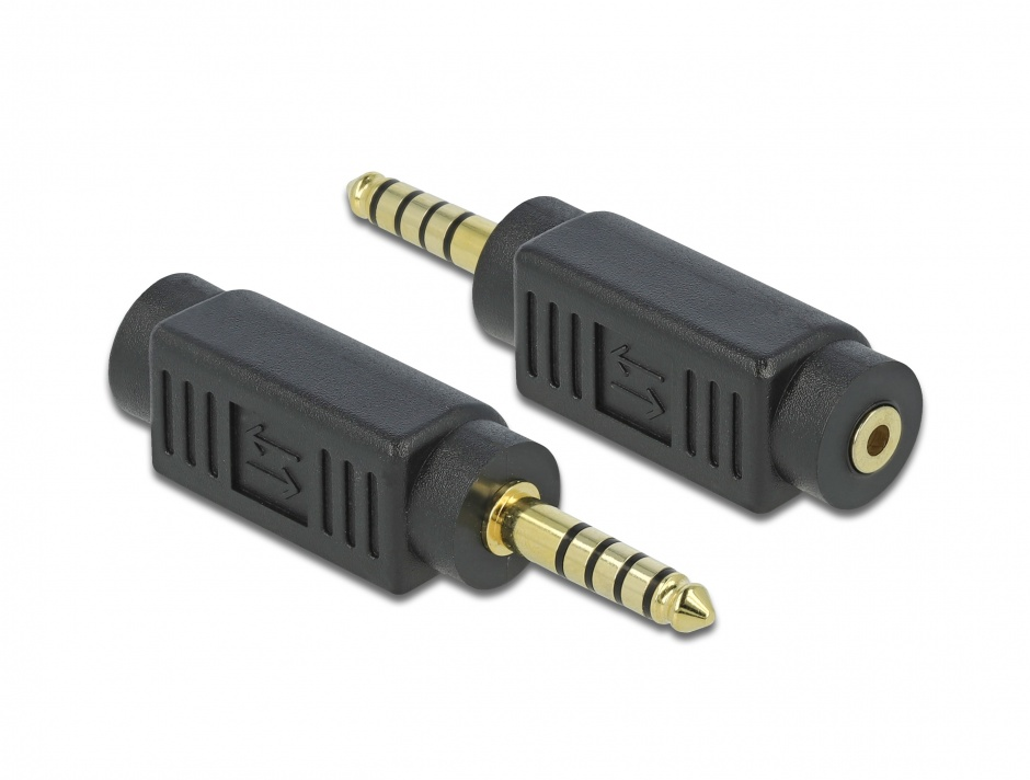 Imagine Adaptor stereo jack 4.4 mm 5 pini la jack stereo 2.5 mm 3 pini T-M, Delock 65995