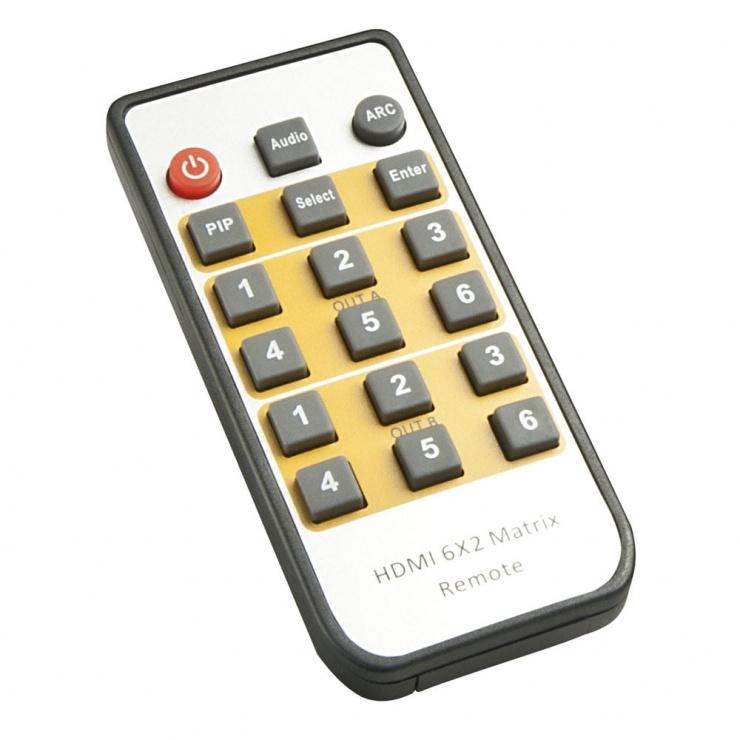 Imagine Matrice HDMI 2.0 4K UHD 6x2 cu PiP, Lindy L38148
