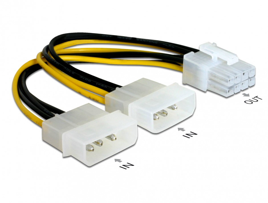 Imagine Cablu alimentare PCI Express 8 pini, Delock 82397