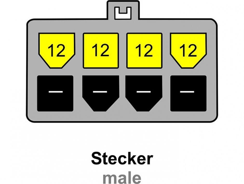 Imagine Cablu alimentare 8 pini EPS la 4 pini ATX/P4, Delock 82405