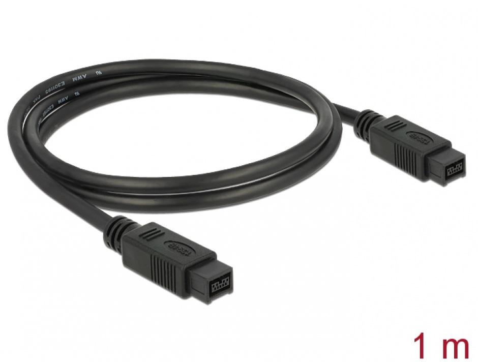 Imagine Cablu Firewire 9 pini la 9 pini 1m, Delock 82598