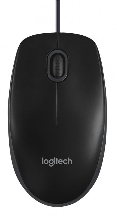 Imagine Mouse Logitech B100 Optical USB negru