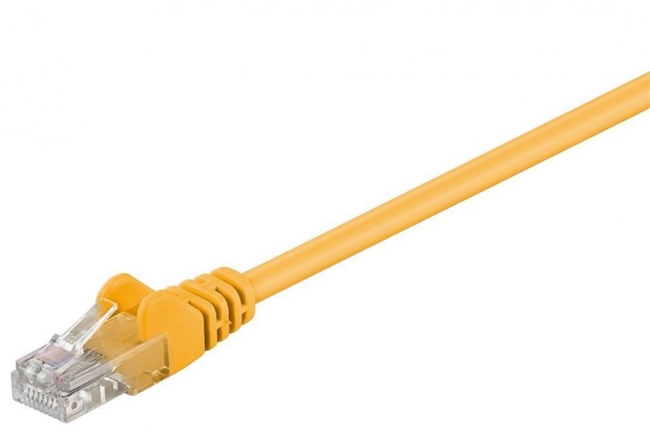 Imagine Cablu retea UTP cat 5e 0.25m Galben, SPUTP002Y