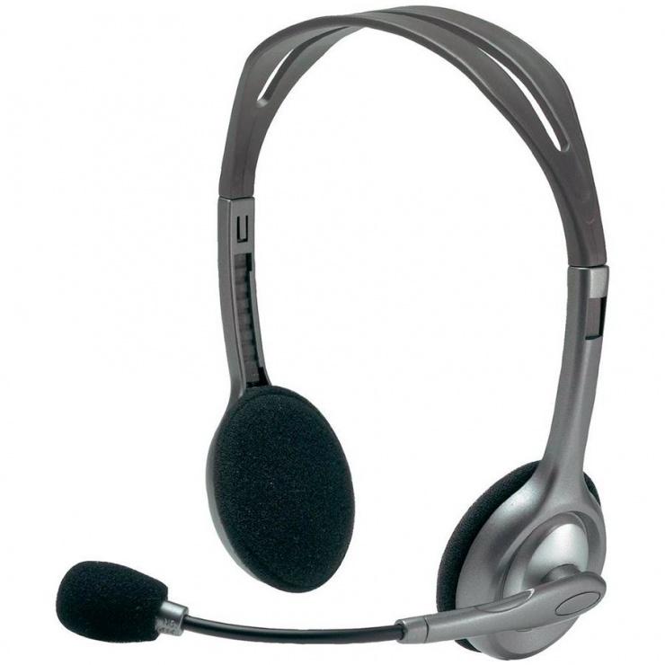 Imagine Casti Logitech H110 cu microfon, 981-000271