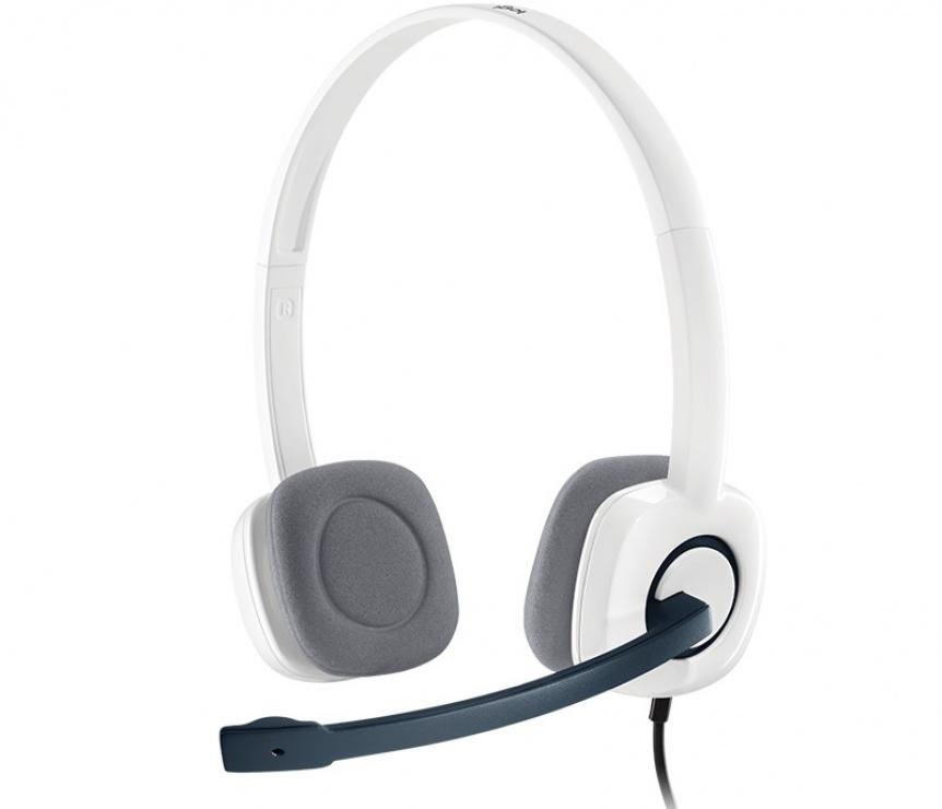 Imagine Casti Logitech H150 cu microfon, Cloud White 981-000350