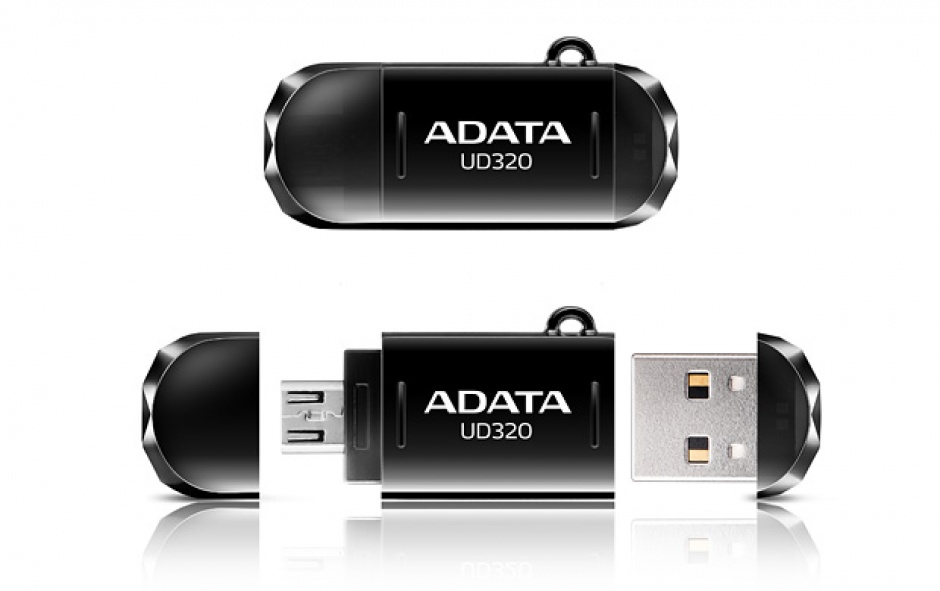 Imagine Stick USB 2.0 16GB ADATA UD320 OTG Black-1