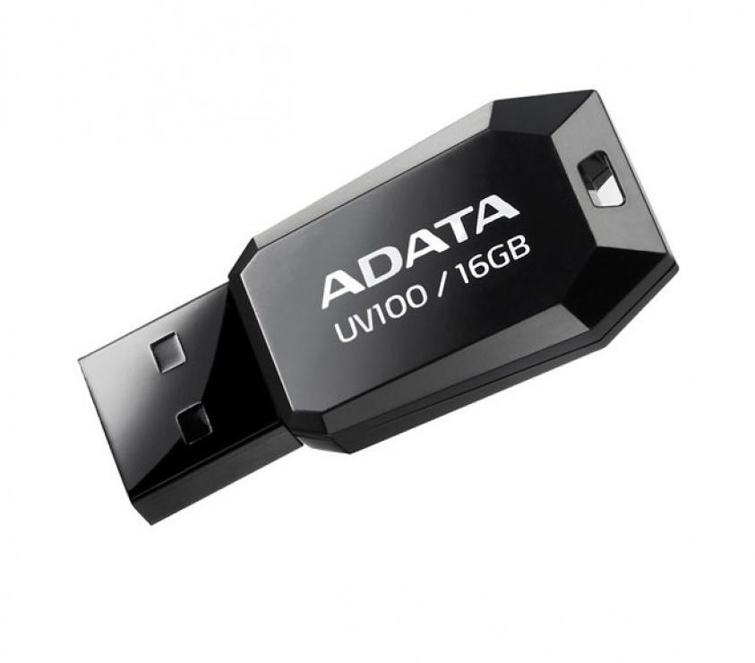 Imagine Stick USB 2.0 fara capac 16GB UV100 Negru, ADATA