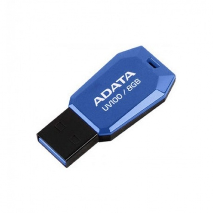 Imagine Stick USB 2.0 fara capac 16GB UV100 Bleu, ADATA