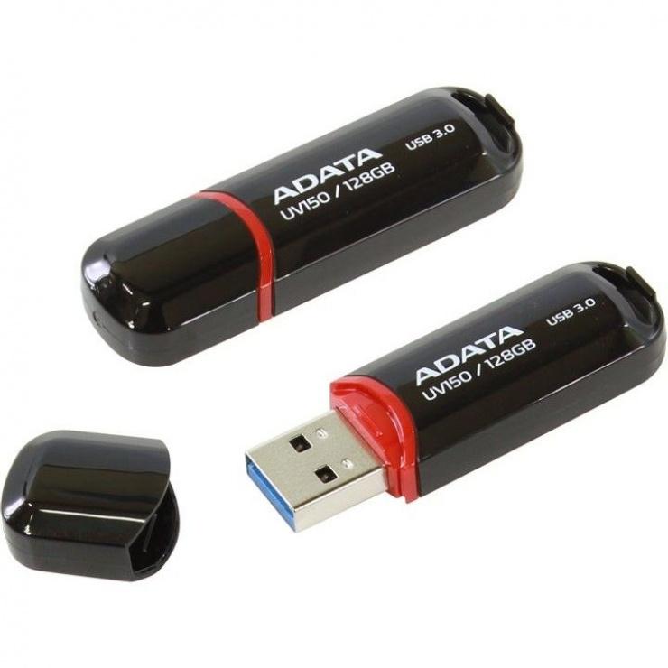 Imagine Stick USB 3.0 cu capac 128GB UV150 Negru, ADATA