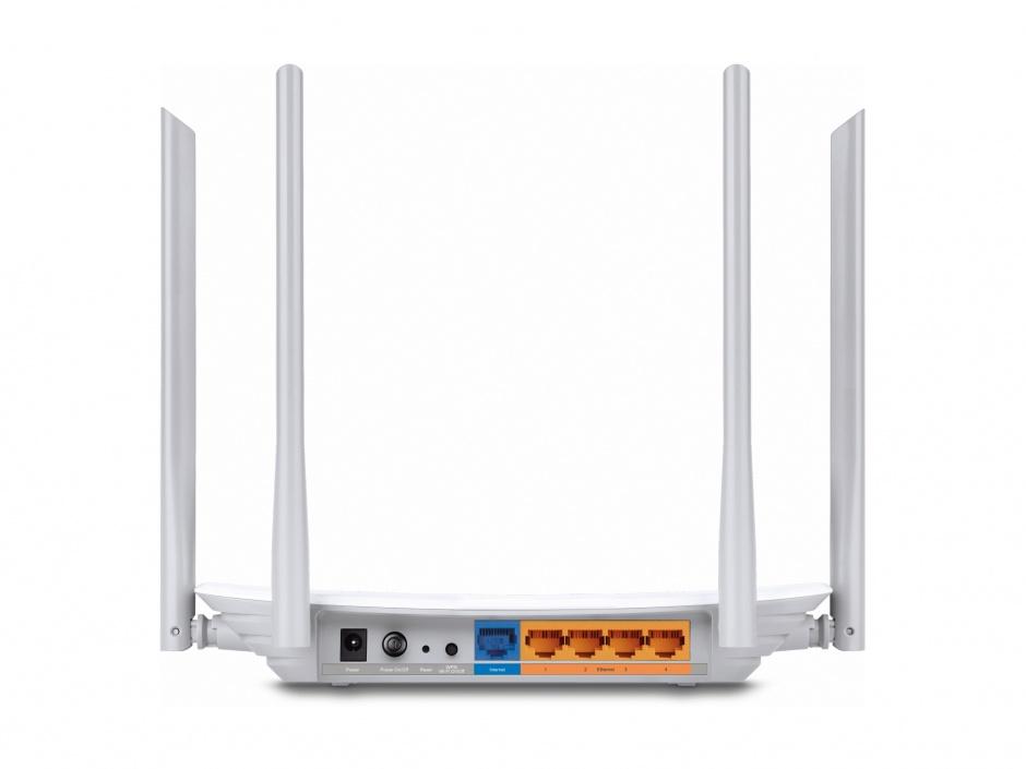 Imagine Router 4 porturi wireless, AC1200, Dual Band, TP-LINK Archer C50