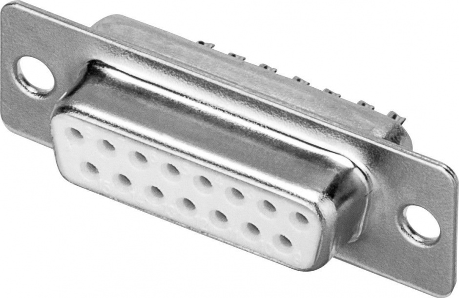 Imagine Conector de lipit D-SUB 15 pini mama, C15F