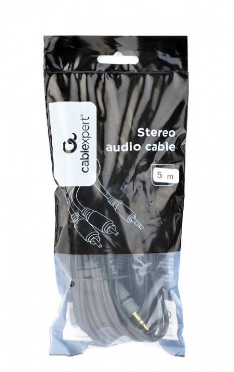 Imagine Cablu audio Premium jack 3.5mm la 2 x RCA T-T 5m, Gembird CCA-352-5M