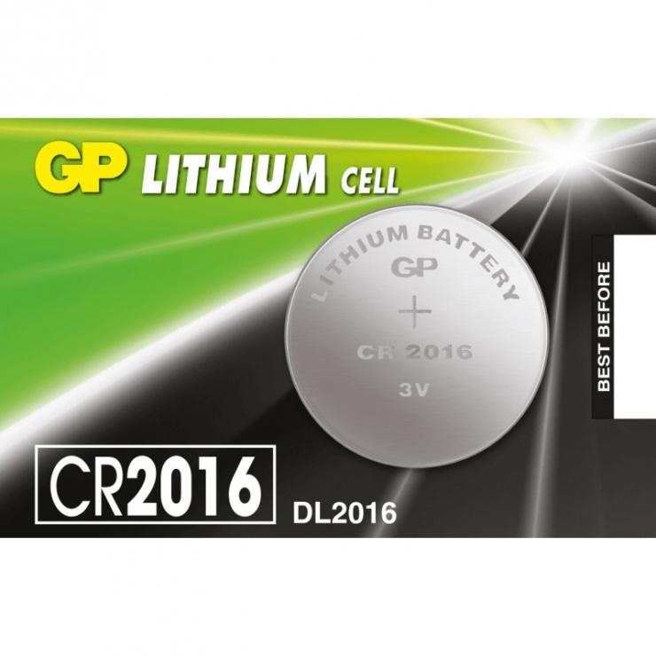 Imagine Baterie Litiu CR2016 3V, GP Batteries
