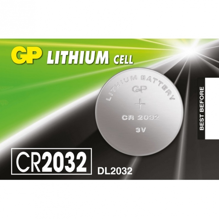 Imagine Baterie Litiu CR2032 3V, GP Batteries