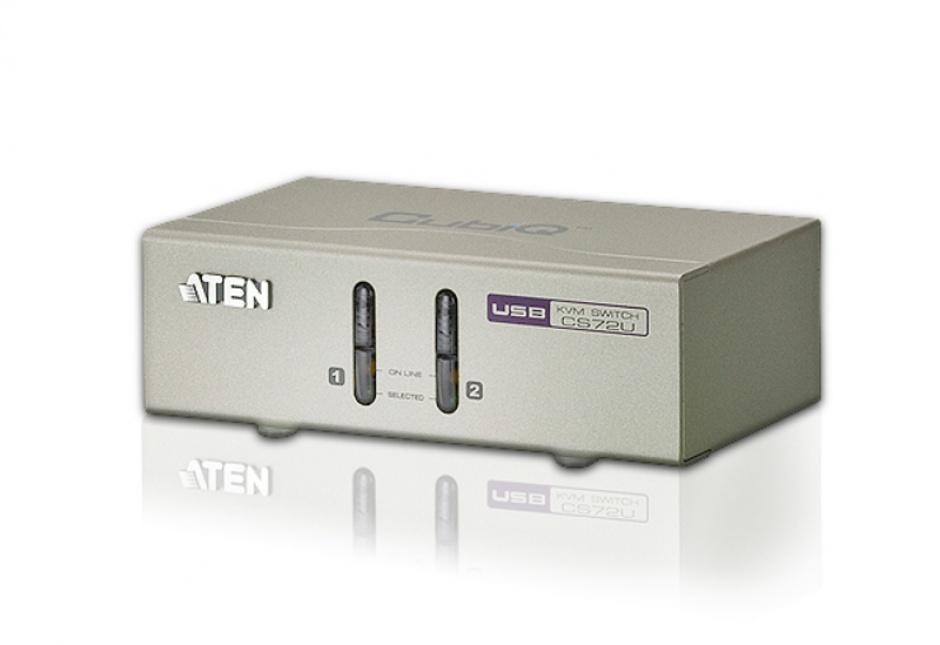 Imagine Switch KVM VGA cu USB 2 porturi, ATEN CS72U