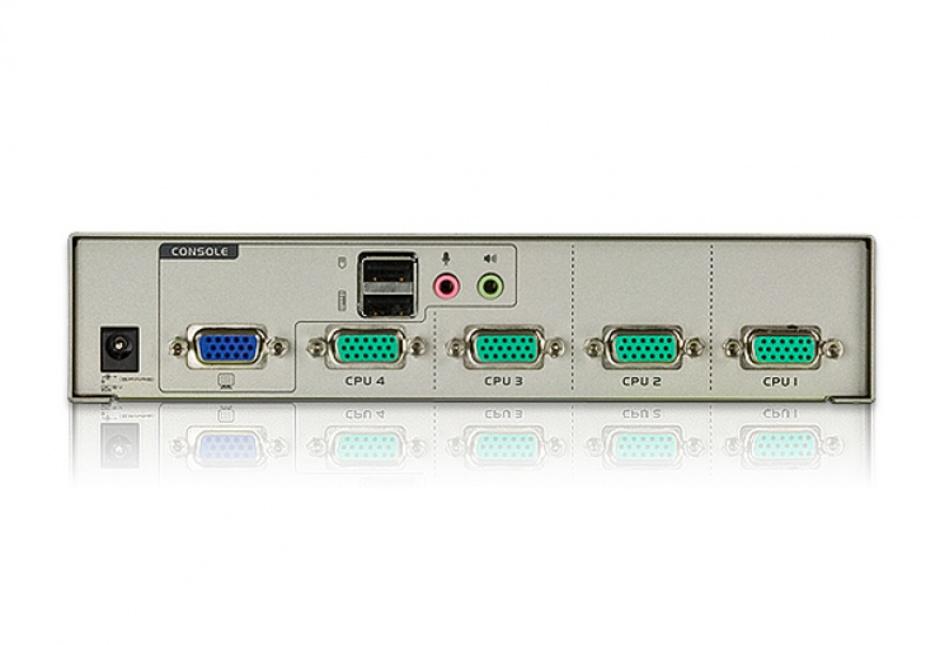 Imagine Switch KVM VGA cu USB 4 porturi, ATEN CS74U