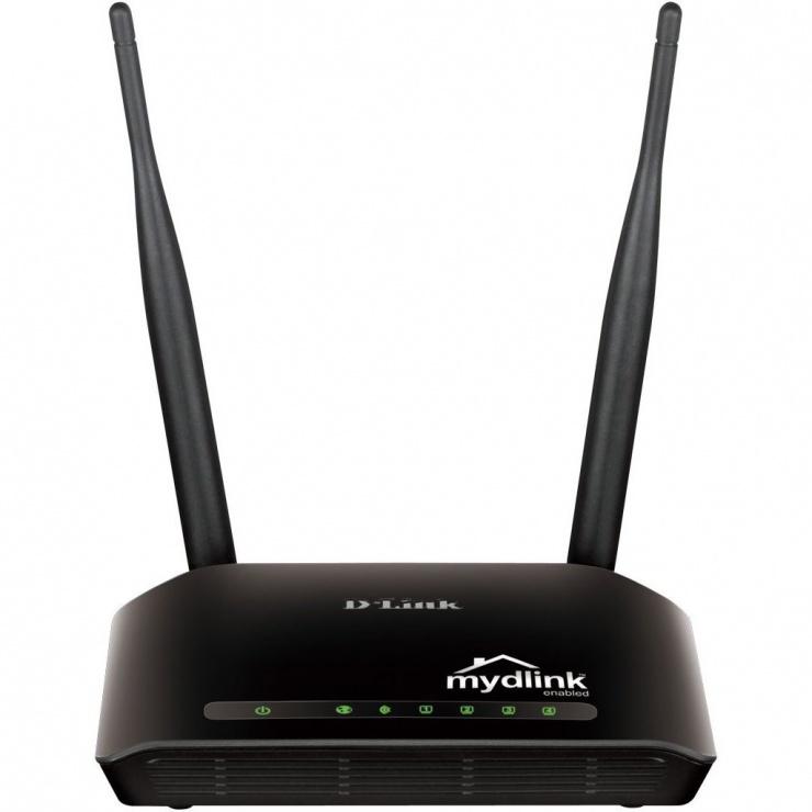 Imagine Router Wireless N 300 Home Cloud 300Mbps, D-LINK DIR-605L
