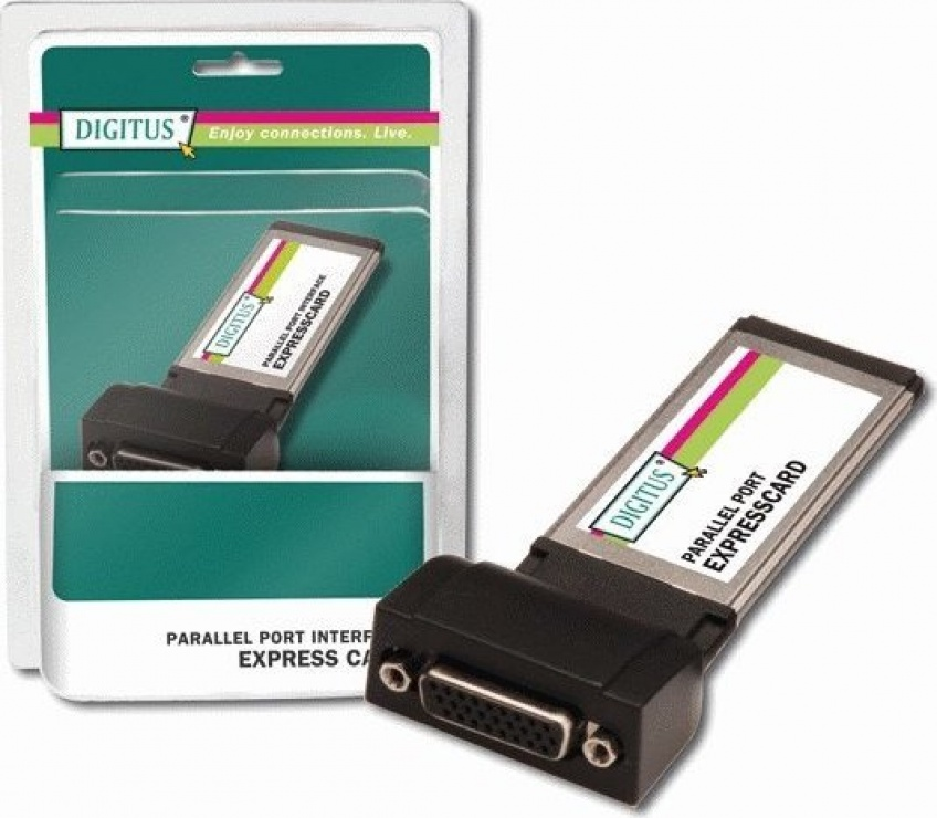 Imagine Express Card cu 1 port paralel, Digitus DS-31206