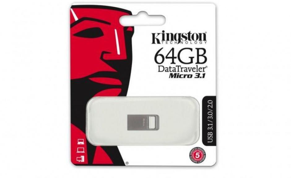 Imagine Stick DataTraveler Micro 64GB USB 3.1/3.0, Metal, Kingston