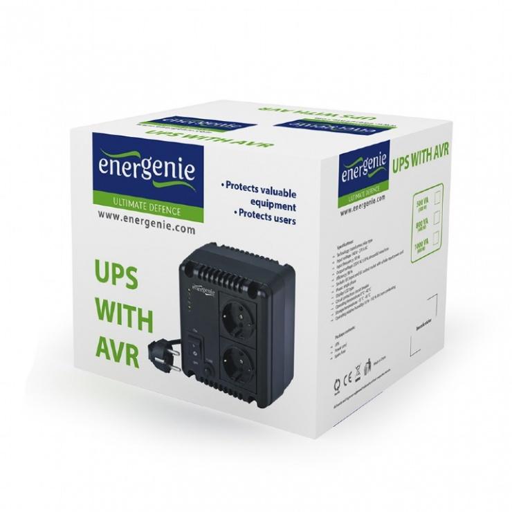 Imagine Stabilizator tensiune 800VA, Energenie EG-AVR-0801-2