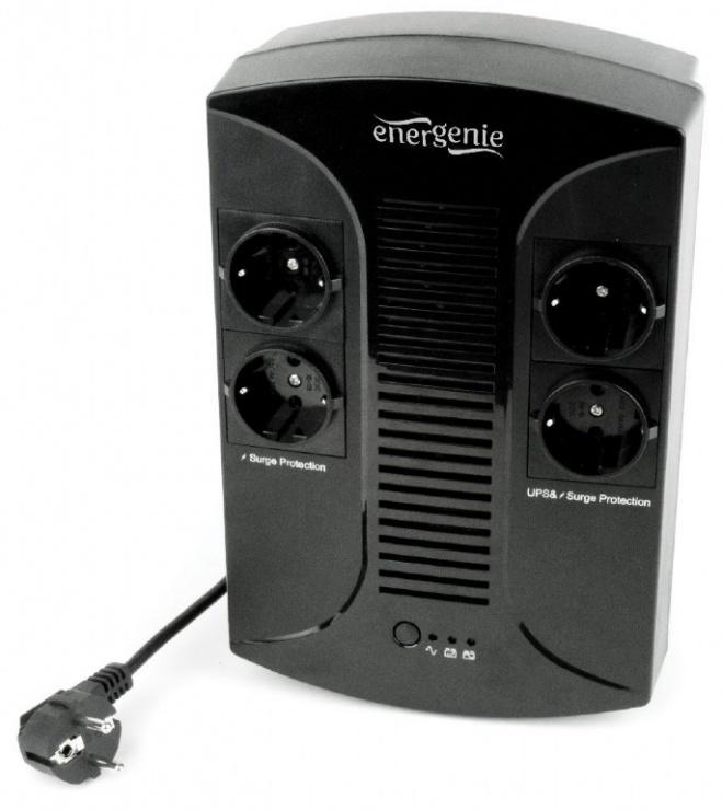 Imagine UPS 650VA line interactive de 650VA si 390W, Gembird EG-UPS-001-1
