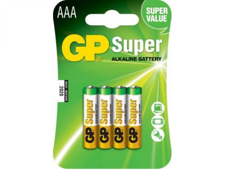 Imagine Blister 4 baterii AAA LR3 Alkaline, GP BATTERIES