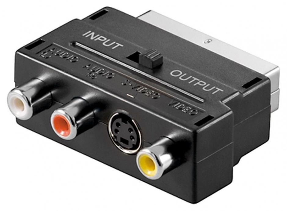 Imagine Adaptor Euroscart la RCA/S-VIDEO+ switch IN/OUT, KJSA-01