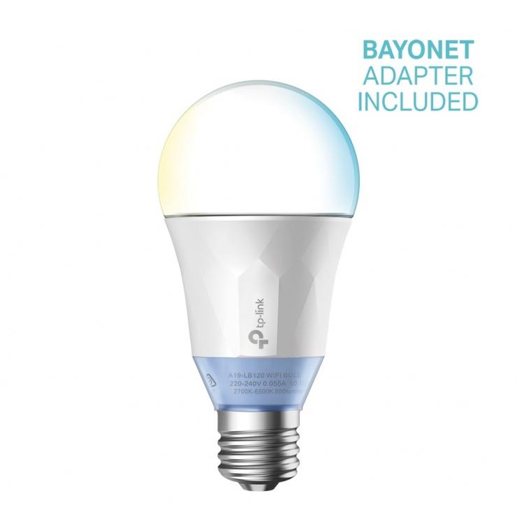 Imagine Bec LED Wi-Fi inteligent cu lumina reglabila alba, TP-LINK LB120