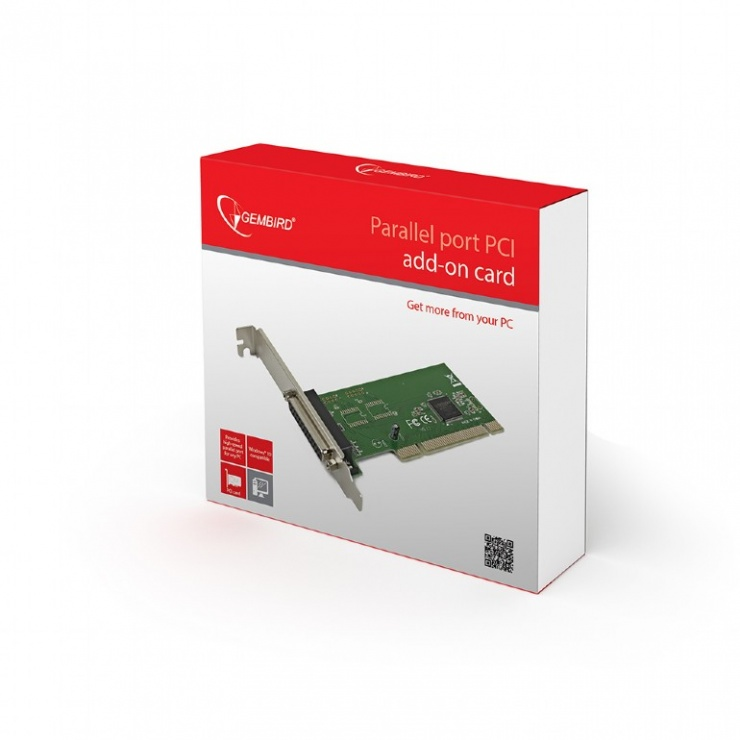 Imagine PCI cu 1 port Paralel DB25, Gembird LPC-1-2