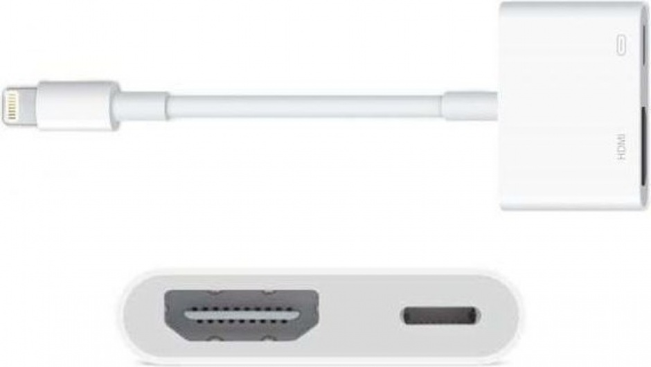 Imagine Adaptor audio-video iPhone Lightning la HDMI cu alimentare, Apple