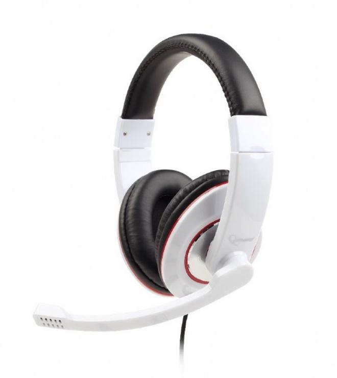 Imagine Casti stereo cu microfon Alb, Gembird MHS-001-GW