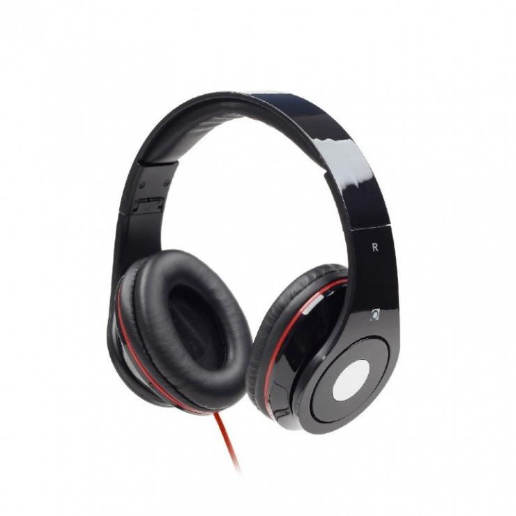 Imagine Casti stereo Detroit Black, Gembird MHS-DTW-BK